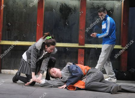 Kate O'Flynn as Racheal, Mike Noble as Billy, Danny Kelly as Chris