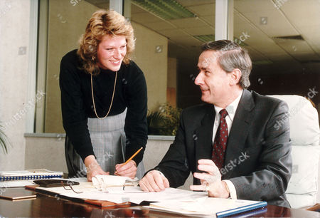 Editorial image of Assignment: Secretary With Her Employer. Anthony Martin Chairman Of The Alfred Marks Bureau With His Personal Assistant Sue Cadd.