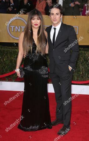 Jenna Ushkowitz and Michael Trevino