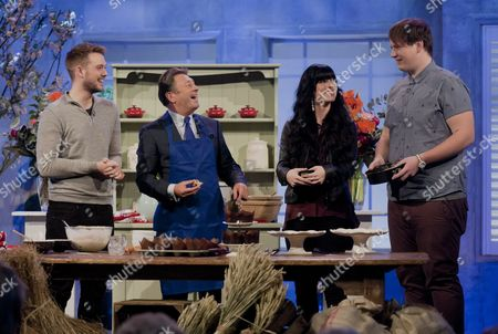 Alan Titchmarsh with John Whaite, Ceren Sonmez and Ryan James