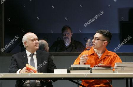 'American Justice' - Peter Tate (John Daniels), (observing through one-way mirror) David Schaal (Herb Stevens), Ryan Gage (Lee Fenton)