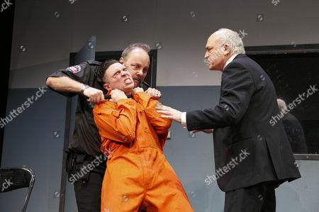 'American Justice' -  Ryan Gage (Lee Fenton - in orange), David Schaal (Herb Stevens), Peter Tate (John Daniels)