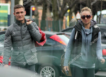 Stock Photo of Catherine Tyldesley and boyfriend Sam Witter arriving at a gym