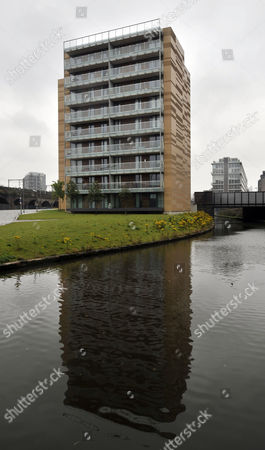 Block 5 Ground Floor Of St. Georges Island Flats Hulme Manchester. Re. Inquest After Immigration Officer Jonathon Mcgrath 32 Collapsed In A City Centre Flat After A Group Of Young Professionals Ended A Boozy Night Out By Sniffing Amphetamines Through A Rolled-up A5 Note.
