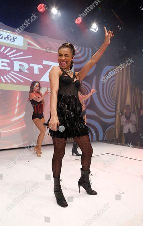 Melanie Thornton on catwalk
