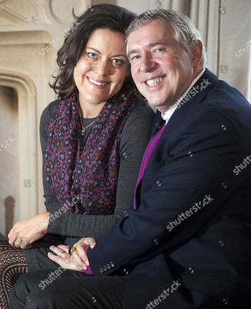 Stock Photo of Anna Pasternak and her husband, Andrew Wallas - aka The Modern Day Wizard