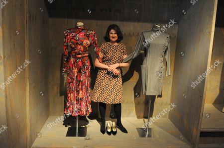 Lady Jill Ritblatt with dresses designed by Emanuel Ungaro.