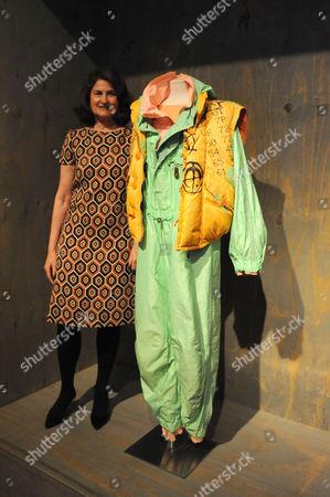 Lady Jill Ritblatt with a Ski suit c 1998 Design:Jet Set, St Moritz