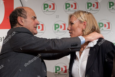 Pier Luigi Bersani and Josefa Idem