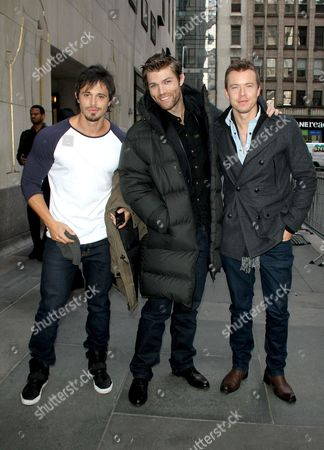 Stock Picture of Tyrone Bell, Liam McIntyre and Todd Lasance
