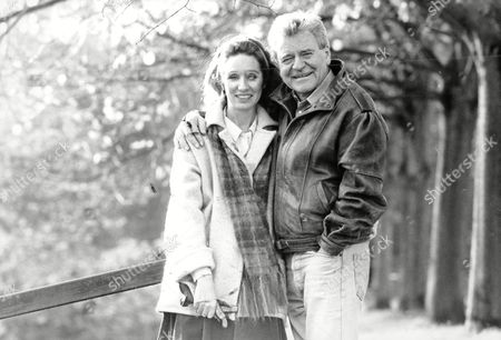 Actor Glyn Owen (dead September 2004) With His Second Wife Carrie.