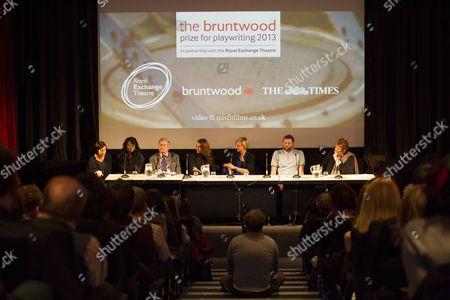 Vicky Featherstone, Bola Agbaje, Benedict Nightingale, Suranne Jones, Marianne Elliott, David Eldridge and Jenni Murray