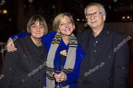 Stock Photo of Sarah Frankcom, Marianne Elliott and Greg Hersov