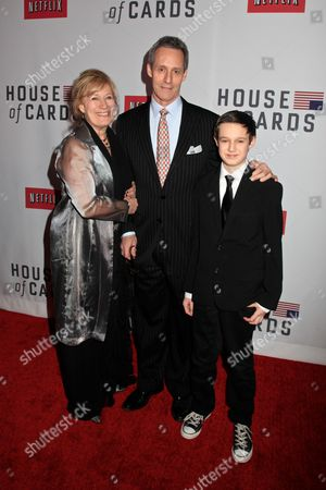 Stock Picture of Jayne Atkinson and husband Michael Gill and son, Jeremy Gill