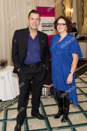 Duncan Bannatyne and Polly Neate (chief exec of Women's Aid)