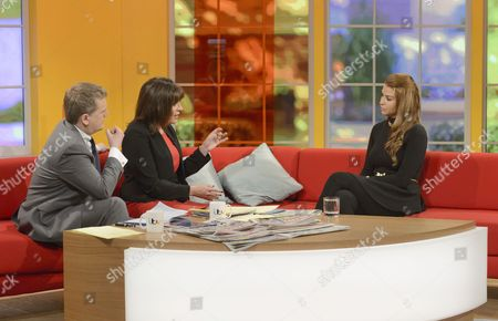 Stock Picture of Aled Jones and Lorraine Kelly with Jenny Thompson
