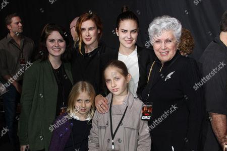 Stock Image of Marlene Willis with granddaughters Hayley Willis, Sienna Willis, Rumer Willis and Tallulah Belle Willis