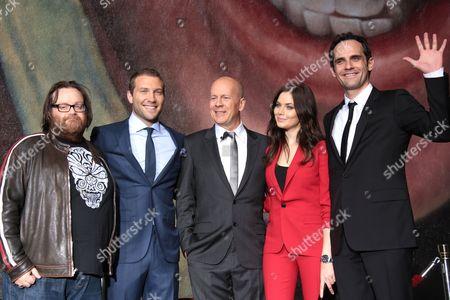 Stock Image of John Moore, Jai Courtney, Bruce Willis, Yuliya Snigir and Rasha Bukvic