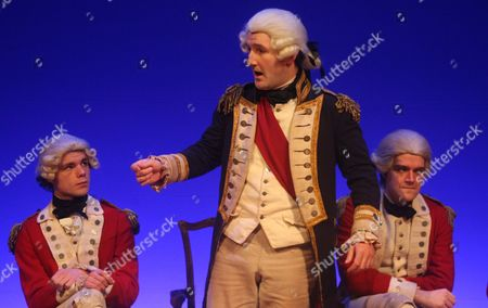 'Our Country's Good' -  Matthew Needham as Capt David Collins, John Hollingworth as Capt Arthur Phillip and Ciaran Owens as Major Robbie Ross