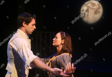 Stock Image of 'Our Country's Good' - Domonic Thorburn as Ralph Clark and Laura Dos santos as Mary Brenham