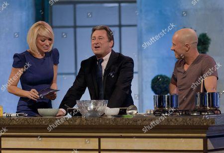 Liz McClarnon, Alan Titchmarsh and Dale Pinnock