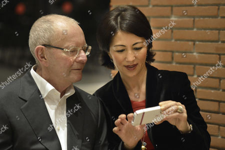 Wilbur Smith and wife Mokhiniso Smith