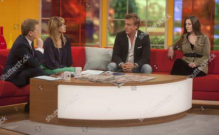 Aled Jones and Kate Garraway with David Ginola and Elisa Roche