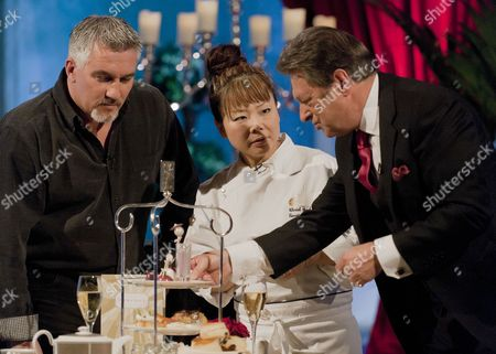 Stock Image of Paul Hollywood, Cherish Finden and Alan Titchmarsh