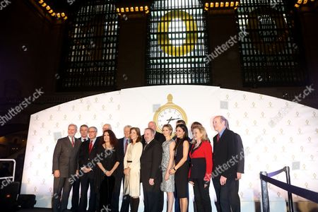 Celebrities and dignitaries including Cynthia Nixon, Keith Hernandez and Mayor Michael Bloomberg attend the ceremonies at Grand Central Terminal.