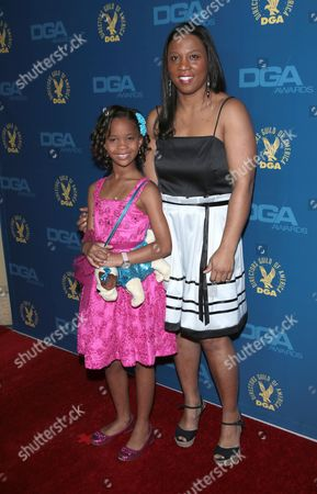 Stock Image of Quvenzhane Wallis and mother Qulyndreia Wallis