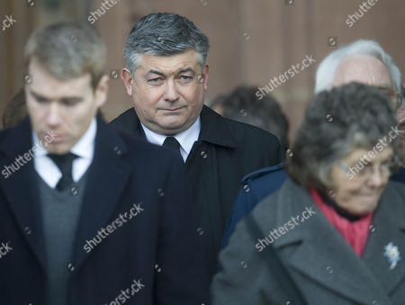 Snooker Player John Parrott Attends The Funeral Of Footballer Gary Ablett At Liverpool's Anglican Cathedral.