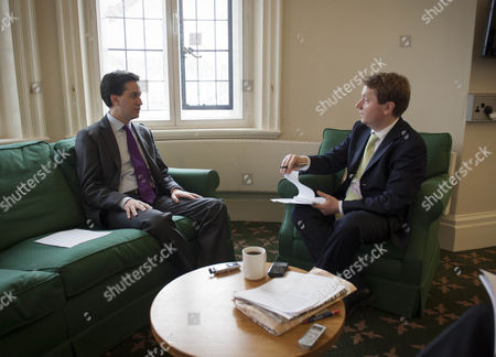 Leader Of The Opposition Ed Miliband Discusses Fred Goodwin And Other Topics For Daily Mail Interview With James Chapman At Portcullis House Westminster.