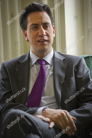 Stock Picture of Leader Of The Opposition Ed Miliband Discusses Fred Goodwin And Other Topics For Daily Mail Interview With James Chapman At Portcullis House Westminster.