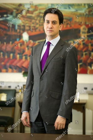 Editorial image of Leader Of The Opposition Ed Miliband Discusses Fred Goodwin And Other Topics For Daily Mail Interview With James Chapman At Portcullis House Westminster.