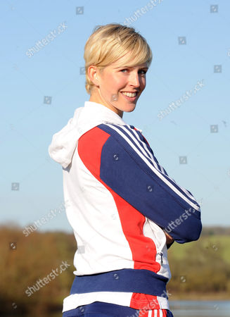 Gb Rowers Vicky Thornley At The Redgrave/pinsent Rowing Lake Near Caversham. The Event Marks Six Months Till The Start Of The Olympic Games Opening Ceremony.