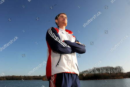 Stock Image of Gb Rower Cameron Nichol Tby The The Redgrave/pinsent Rowing Lake Near Caversham. The Event Marks Six Months Till The Start Of The Olympic Games Opening Ceremony.