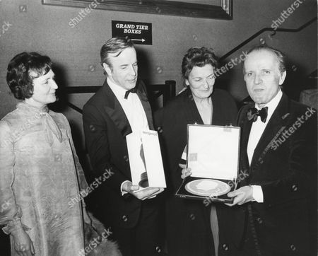 FRANCO ZEFFIRELLI with NINO ROTA winner of the 1972 ANTHONY ASQUITH Award (FILM MUSIC) for the GODFATHER (1972) and GUESTS at the Awards Cermeony in 1973