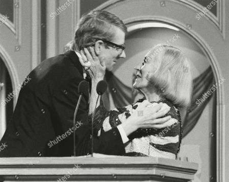 KEVIN BROWNLOW winner of the 1980 MICHAEL BALCON Award presented by GLORIA SWANSON (citation reader) at the Awards Ceremony in 1981