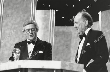 MICHAEL ASPEL (PRESENTER) and MICHAEL HORDERN (citation reader) at the Awards Ceremony in 1988