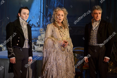 Stock Picture of Taylor Jay-Davies at young Pip, Paula Wilcox as Miss Havisham and Paul Nivison as adult Pip