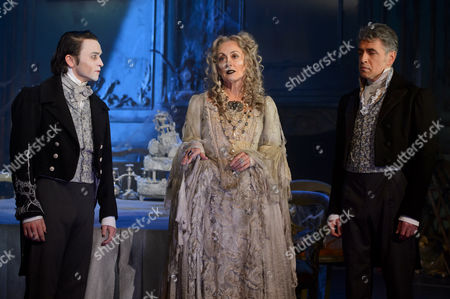 Taylor Jay-Davies at young Pip, Paula Wilcox as Miss Havisham and Paul Nivison as adult Pip