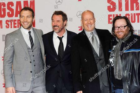 Stock Photo of Sebastian Koch, John Moore, Bruce Willis and Jai Courntey
