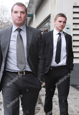 Anton Rodgers (19) arriving with his father Brendan Rodgers (Manager of Liverpool FC)