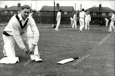 Cricketer Jack Bond During Training John David 'jack' Bond Born In Kearsley Near Bolton Lancashire On 6 May 1932 Is A Former Cricketer Who Played For Lancashire And For One Season For Nottinghamshire. Jack Bond Was A Right-handed Middle Order Batsman And A Good Close Fielder Who Had A Fairly Unspectacular County Cricket Career For Lancashire From 1955 Being Assured Of A Regular Place In A Strong Batting Line-up In Only A Few Seasons Among Them 1962 When He Scored 2 125 Runs At An Average Of More Than 36. But By The Mid-1960s He Was Second Eleven Captain And An Irregular First-class Cricketer. Success With The Second Team Though Led To An Unexpected Call-up To Be First Team Captain From 1968 And Over The Next Five Seasons Bond Led A Previously Under-achieving Side To A Run Of Success In One-day Cricket Competitions That Has Not Been Equalled. Intensively Competitive Bond Led By Example In The Field And Often Made Useful Runs Normally Batting At No 6 Or Lower. A Mostly Young Team Included Future England Cricketers Such As Barry Wood David Lloyd Frank Hayes Peter Lever And Ken Shuttleworth And Lancashire Recruited Proven Matchwinners In Clive Lloyd And Farokh Engineer As The Overseas Stars.