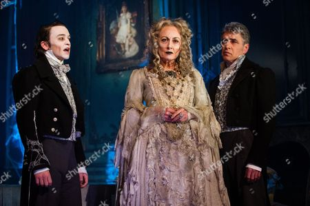 'Great Expectations' - Taylor Jay-Davies (Young Pip), Paula Wilcox (Miss Havisham) and Paul Nivison (Adult Pip).