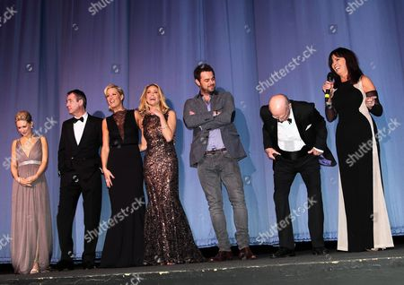 Kellie Shirley, Neil Morrissey, Sarah Harding, Danny Dyer, Ray Cooney and Vicki Michelle