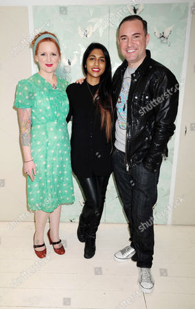 Belinda Hay, Meryl Fernandes and Nick Ede
