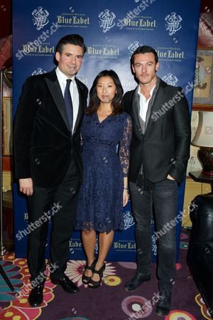 Ed Taylor, Beatrix Ong and Luke Evans