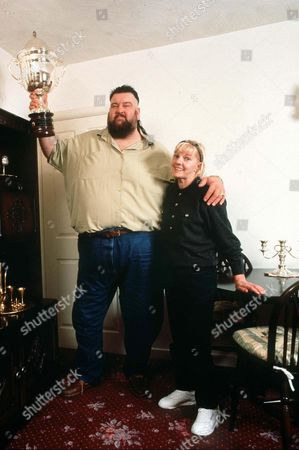 Editorial picture of GIANT HAYSTACKS AND WIFE RITA - 1993