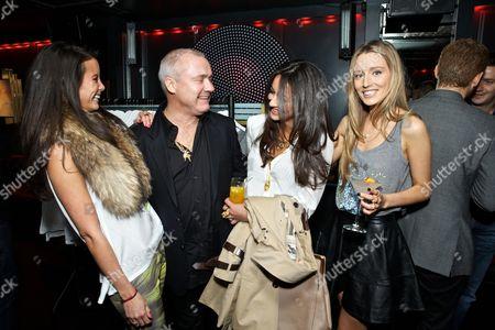 Stephanie Smart, Damien Hirst, Roxie Nafousi and Alexandra Bayley